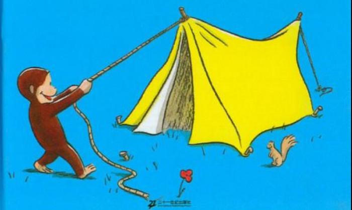 """""""黎姐姐""""绘本阅读:《好奇的乔治去野营》"""